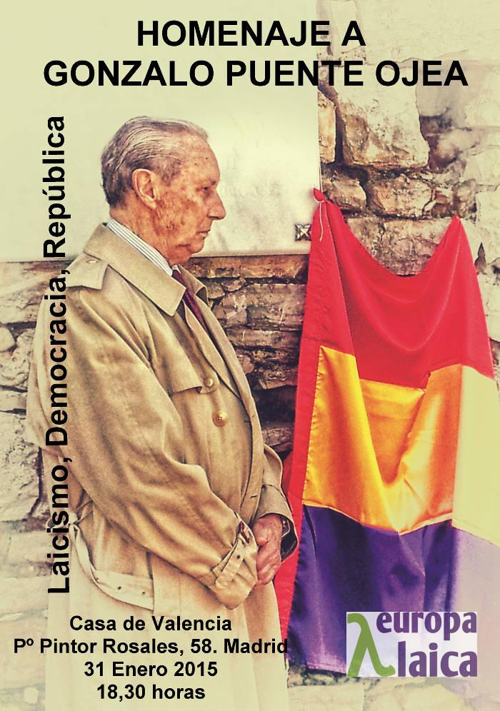 Cartel homenaje Gonzalo Puente Ojea 2015