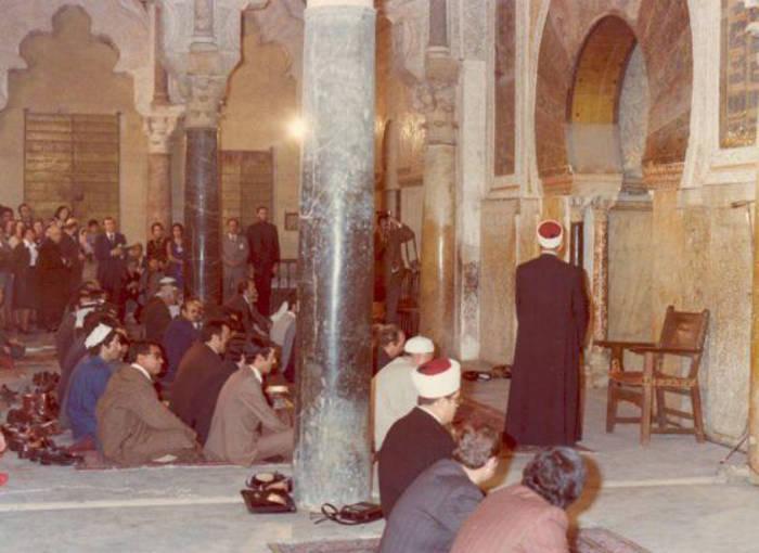 Imagen del II Congreso Islámico-Cristiano celebrado en la Mezquita de Córdoba en 1977.