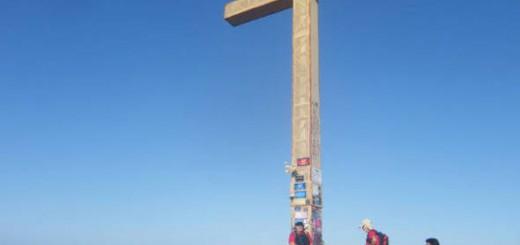 Cruz en la Sierra Helada de Benidorm Alicante