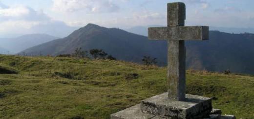 Cruz monte Akondia en Gipuzkoa
