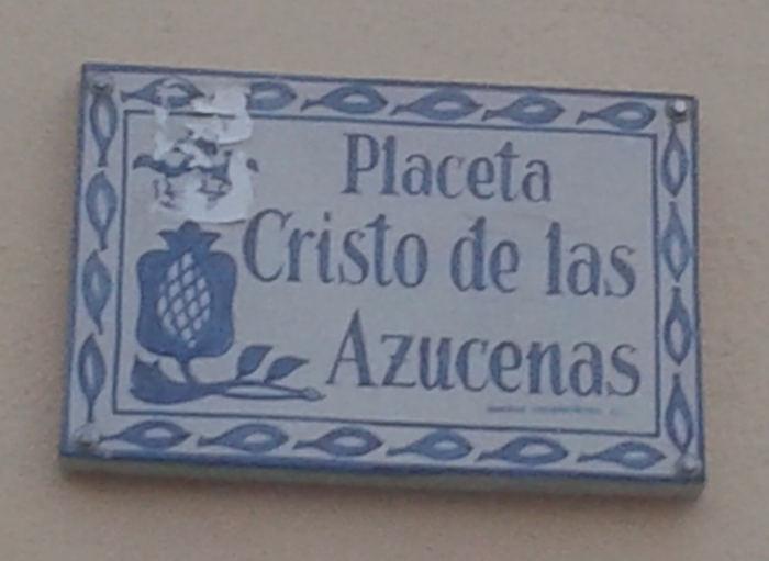 Granada Placeta Cristo de las Azucenas