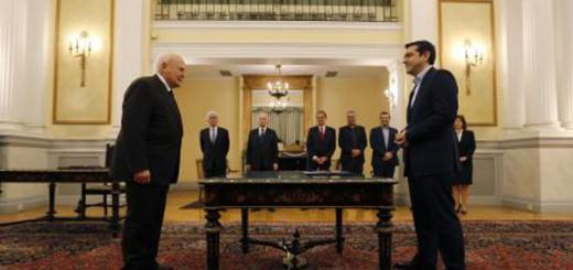 Juramento civil de Tsipras como primer ministro de Grecia 2015