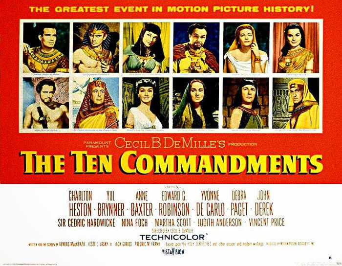 Los diez mandamientos cartel cine