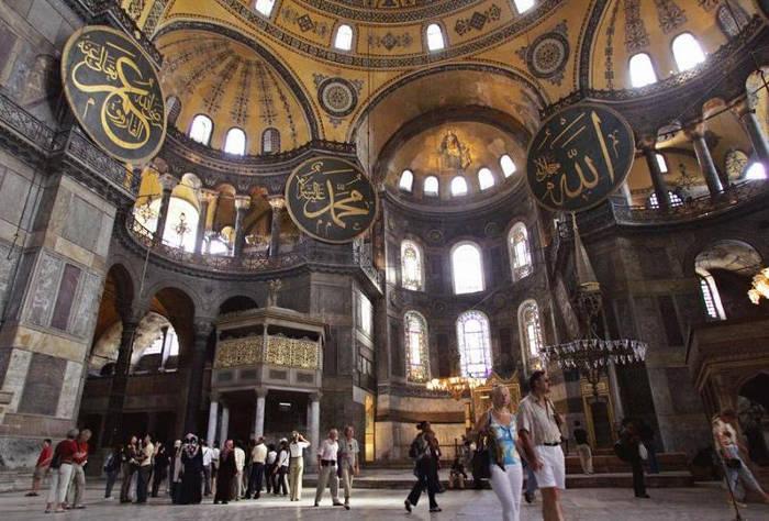 Museo Santa Sofia, antigua basilica y mezquita. Estambul