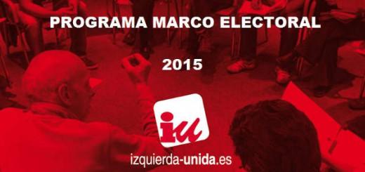 Progama elecciones municipales IU 2015