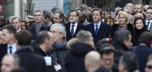 Numerosos dirigentes mundiales se han desplazado este domingo a París, entre ellos Mariano Rajoy. EFE