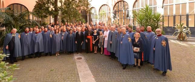 Miembros de la Sagrada Orden Militar Constantiniana de San Jorge. Foto: http://ordenconstantinianaespana.blogspot.com.es