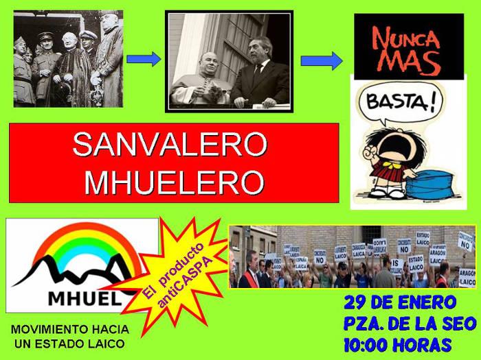 San Valero Mhuelero: Por un ayuntamiento y unas instituciones laicas ...