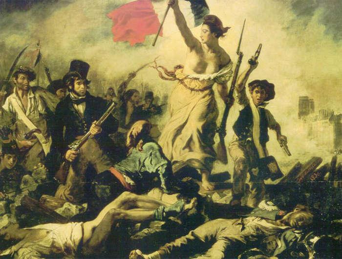 La libertad guiando al pueblo Delacroix
