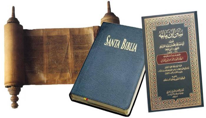 Libros sagrados religiones: biblia, torah, corán