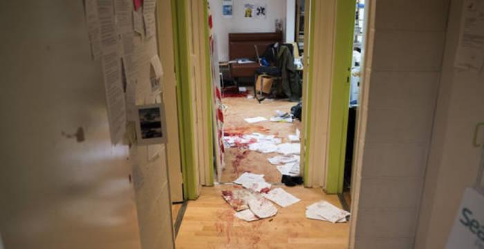 Local de Charlie Hebdo tras atentado 2015