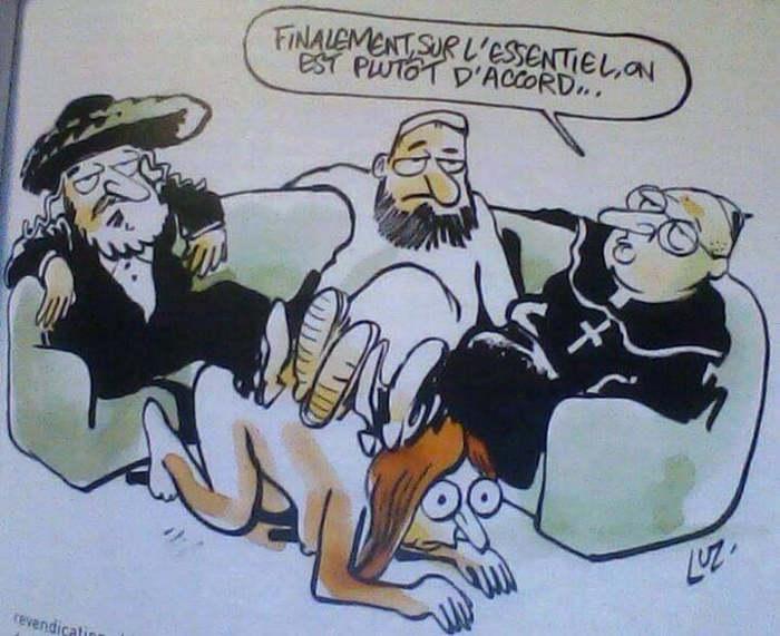 mujer y religiones en Charlie Hebdo