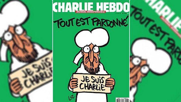 Portada próximo número de Charlie Hebdo tras el atentado. 2015