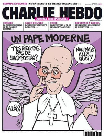 portada Charlie Hebdo papa