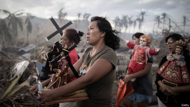 La religión como alivio ante los desastres. Filipinas tras un tifón