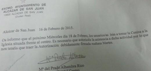 Ceniza en un Centro Municipal Discapacitados 20150213 Alcazar