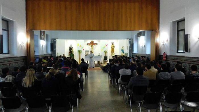 Misa el pasado 31 de enero con motivo de San Juan Bosco en el Colegio Sagrado Corazón de Jerez de la Frontera