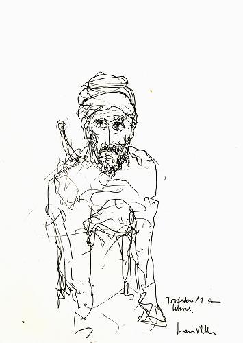 Caricatura de Lars Vilks  en Wikipedia