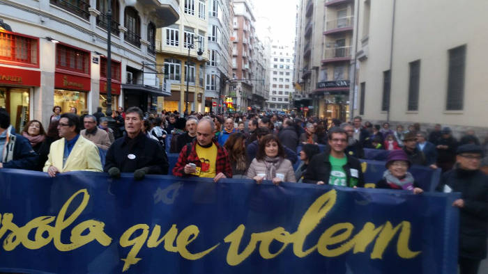 Mani Escuela que queremos Valencia Laica 20150221 a