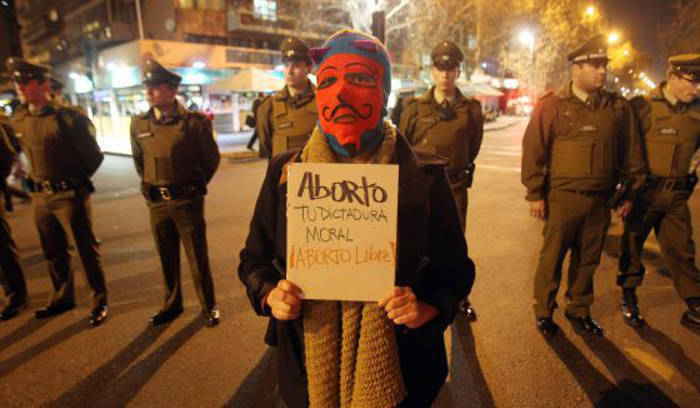 Manifestación a favor del aborto en Santiago de Chile / EFE