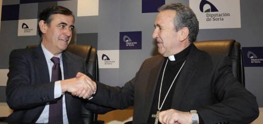 Presidente Diputacion y obispo de Soria 2015