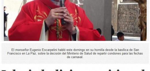 iglesia Bolivia contra condones en carnaval 2015