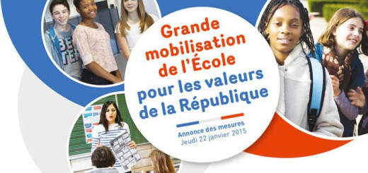 movilizacion escolar valores Republica 2015 Francia