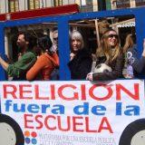 religion fuera escuela bus
