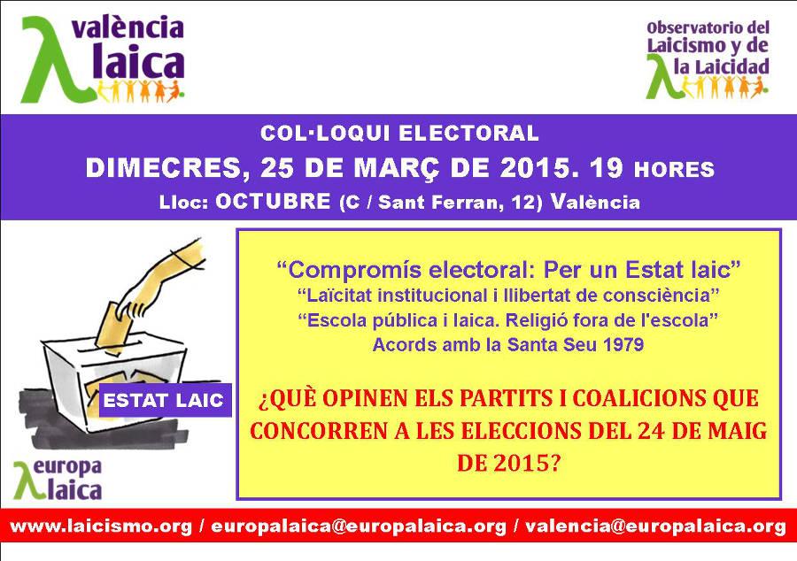 Acto propuestas electorales Valencia 2015