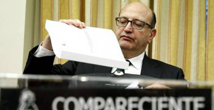 El presidente del Tribunal de Cuentas, Ramón Álvarez de Miranda, durante una comparecencia en el Congreso. EFE/Ballesteros