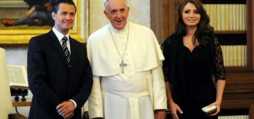 Nieto presidente Mexico con Bergoglio