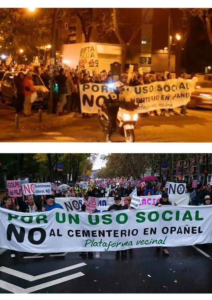 Opanel Madrid kikos Protesta