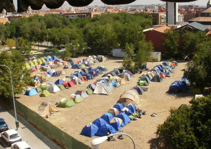 Opanel Madrid kikos campo ocupado