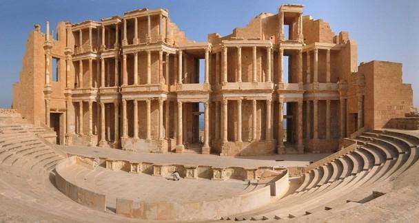 Teatro romano de Sabratha, una de las más valiosas ruinas existentes en Libia. / Wikipedia
