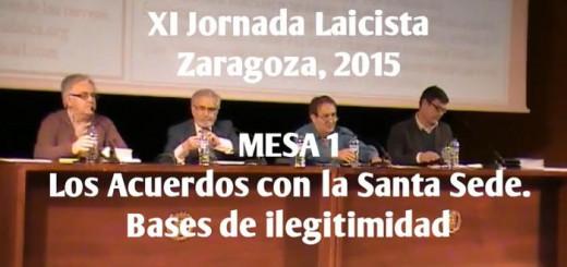 XI Jornada Laicista Zaragoza Mesa 1 Acuerdos