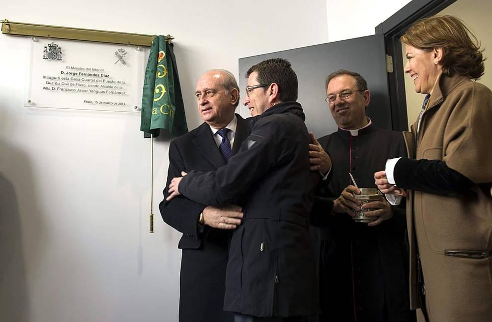 Fernández Días, Ministro del Interior, en la inauguración y bendición del cuartel de la Guradia Civil en Fitero (Navarra)