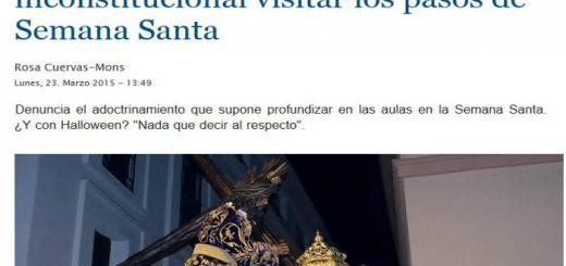 comunicado actos escolares semana santa 2015 en La Gaceta