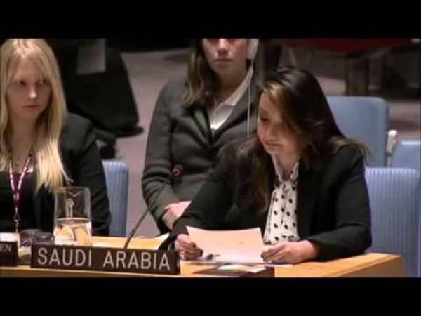 diplomatica Arabia en la ONU sin velo