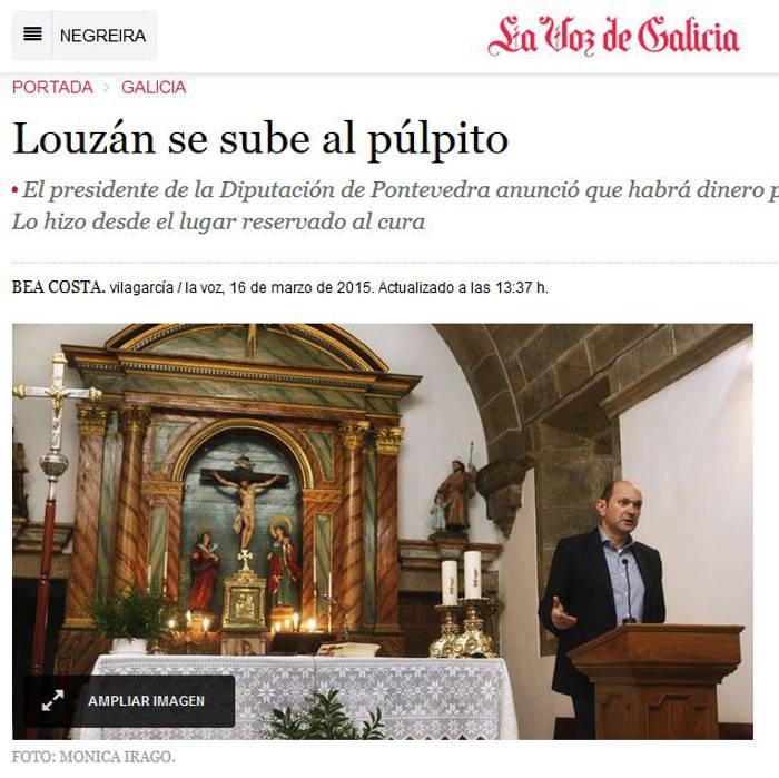 mitin en una iglesia Pontevedra 2015