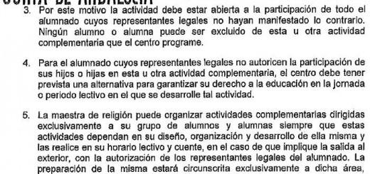 Acta Inspeccion Sevilla procesiones escolares