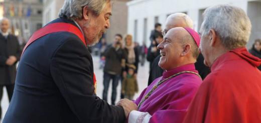 Belloch con Vicente Jimenez arzobispo Zaragoza 2015