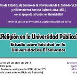 Charla MCL El Salvador 2015
