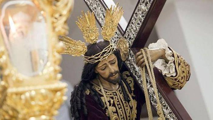 Imagen del Cristo de la Misericordia en la Semana Santa de este año. / Álvaro Cabrera