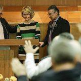 Esperanza aguirre en una iglesia evangelica 2015