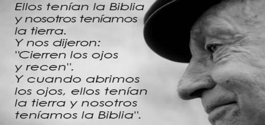 Tierra y biblias Galeano