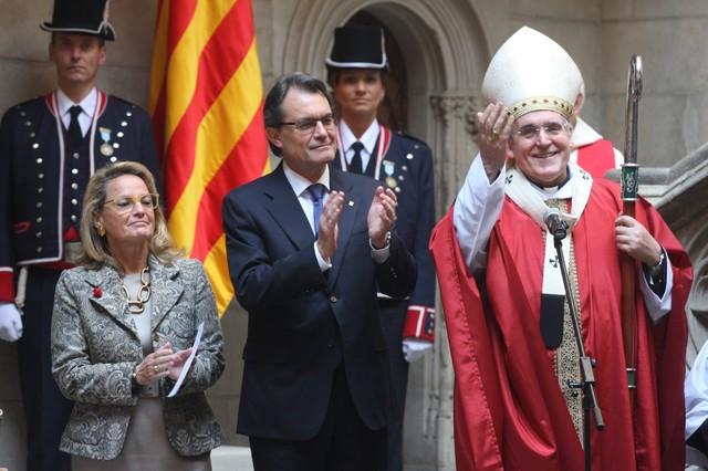 arzobispo Sistach y Artur Mas 2013