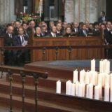 El presidente alemán Joachim Gauck durante el funeral en Colonia (Alemania) por el accidente de Germanwings el pasado 17 de abril. / efe