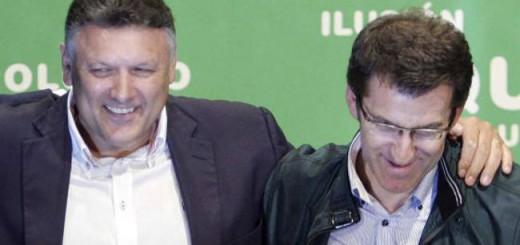 Telmo Martín (izquierda) con Alberto Núñez Feijóo / Lalo R. Villar