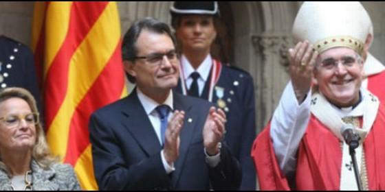 sistach arzobispo Barcelona y Artur Mas Presidente Generalitat