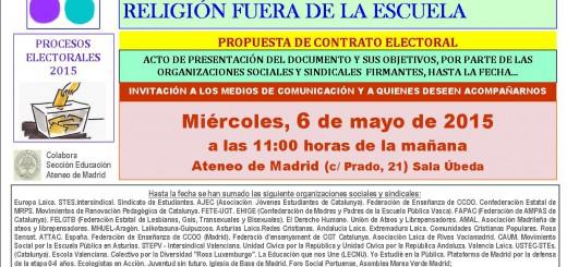 Acto 6 de mayo 2015 Escuela laica